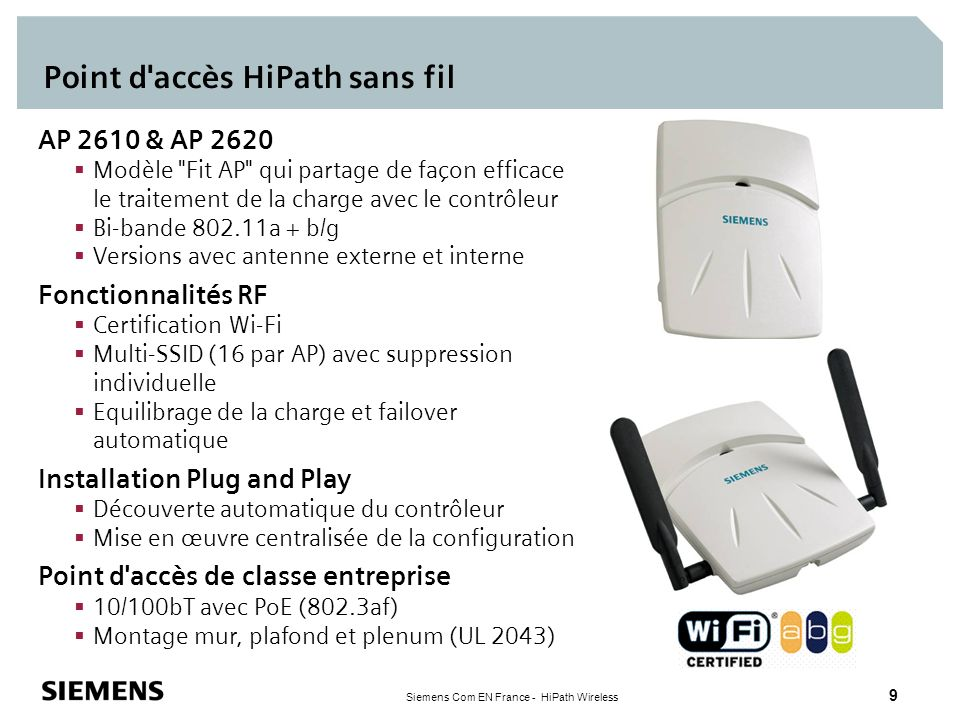 Point d accès HiPath sans fil