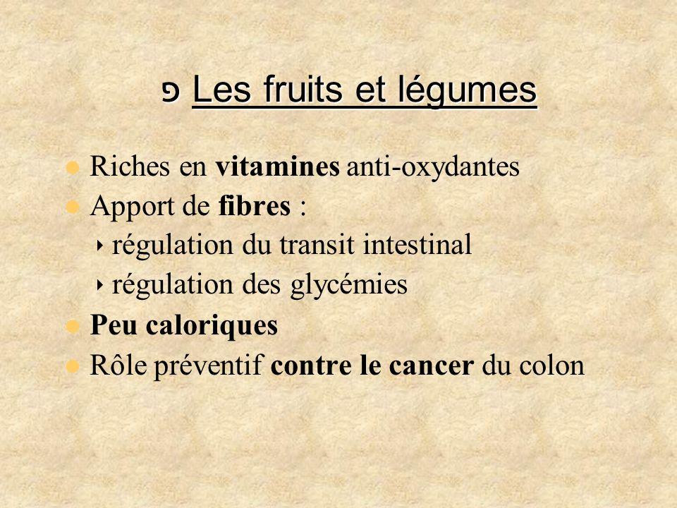 פ Les fruits et légumes Riches en vitamines anti-oxydantes