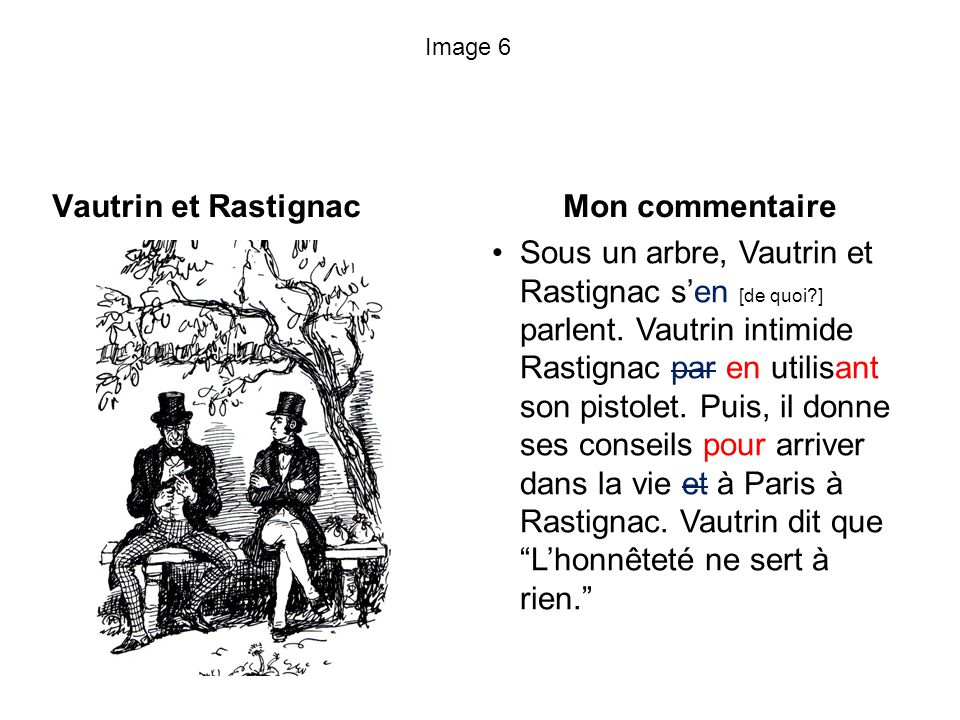 Vautrin et Rastignac Mon commentaire