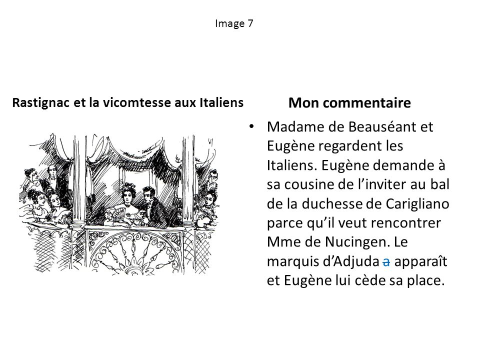 Rastignac et la vicomtesse aux Italiens