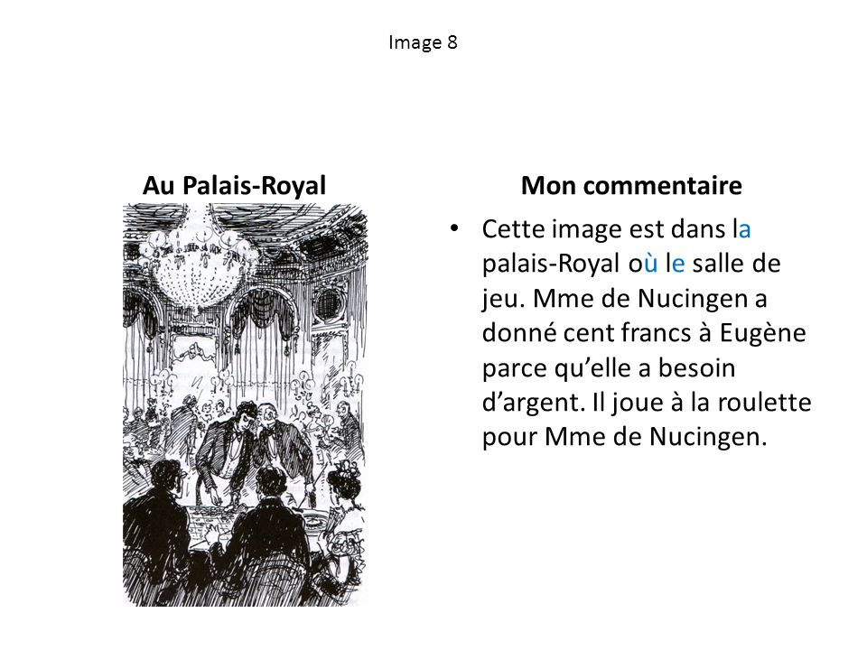 Au Palais-Royal Mon commentaire