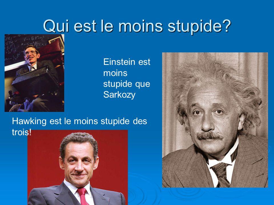 Qui est le moins stupide