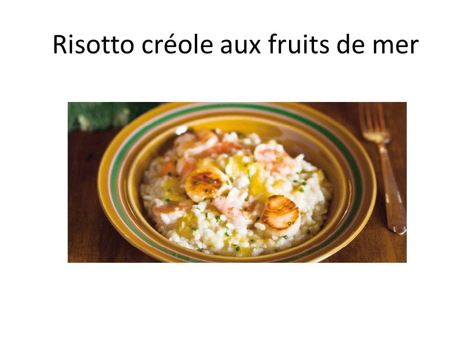 Risotto créole aux fruits de mer