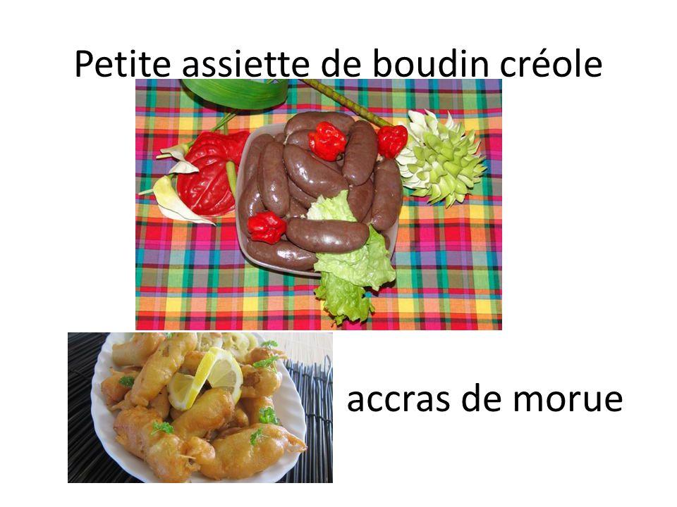 Petite assiette de boudin créole