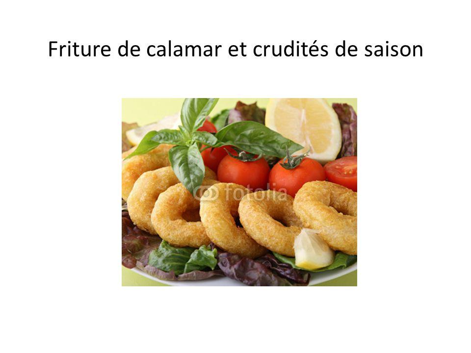 Friture de calamar et crudités de saison