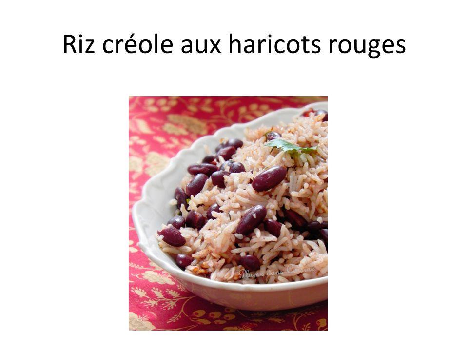 Riz créole aux haricots rouges