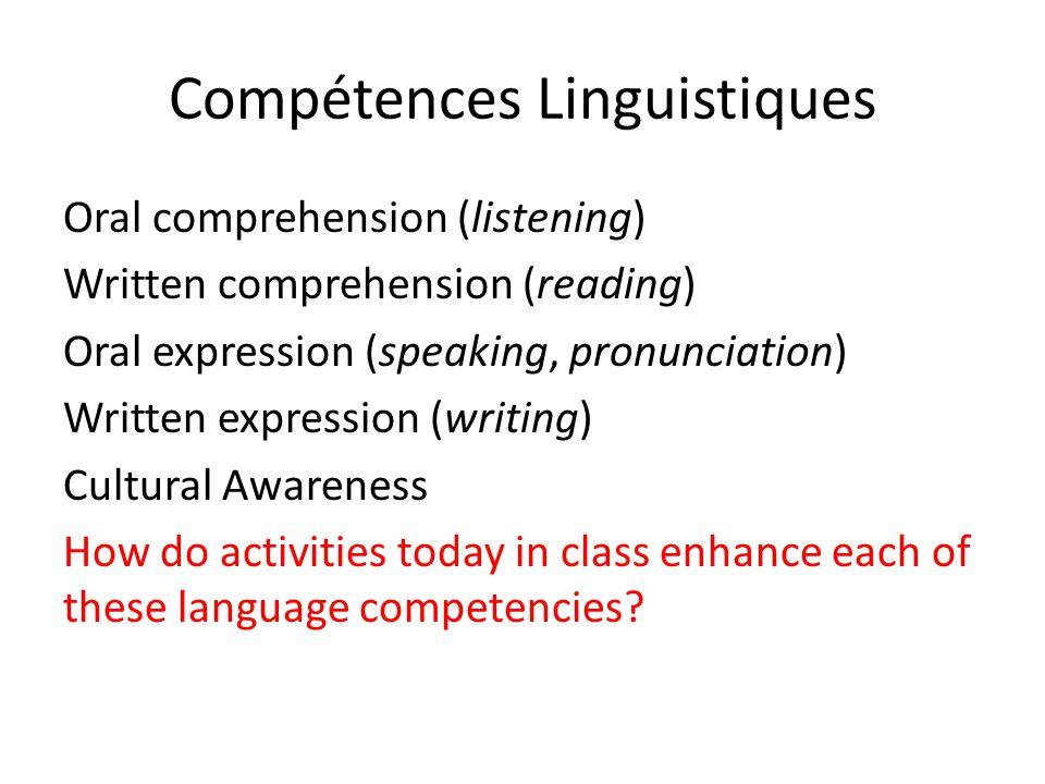 Compétences Linguistiques