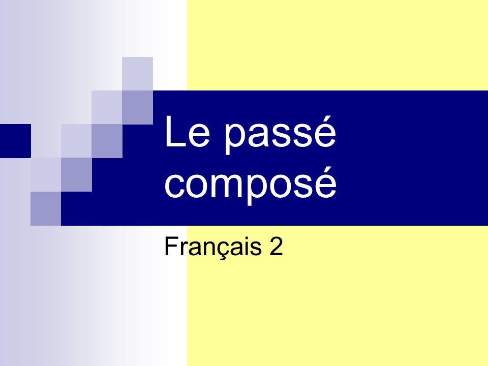 Le passé composé Français 2