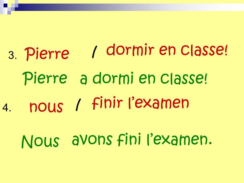 dormir en classe! / Pierre Pierre a dormi en classe! finir l'examen /