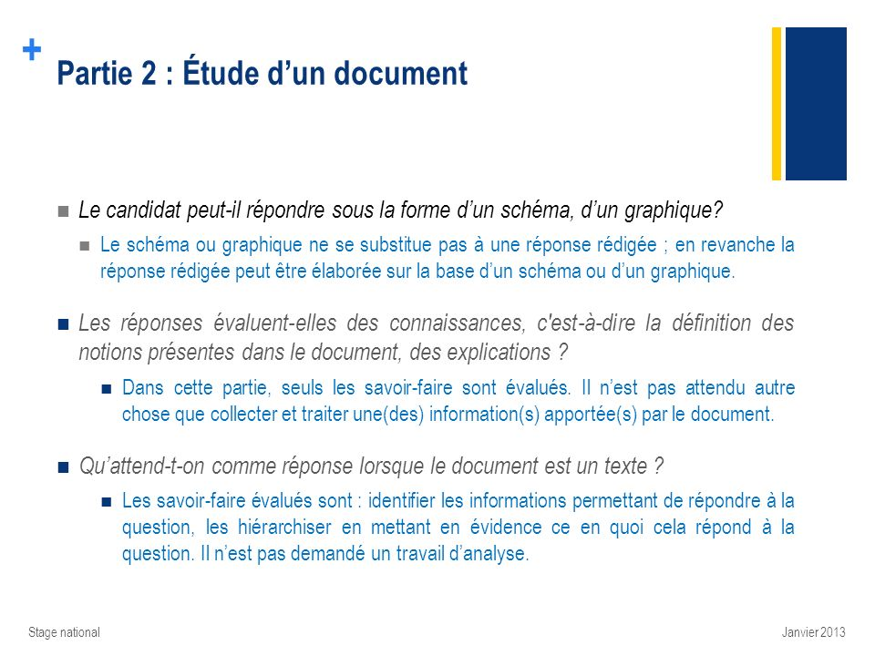 Partie 2 : Étude d'un document