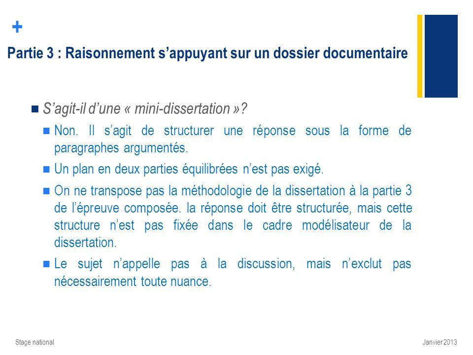 Partie 3 : Raisonnement s'appuyant sur un dossier documentaire