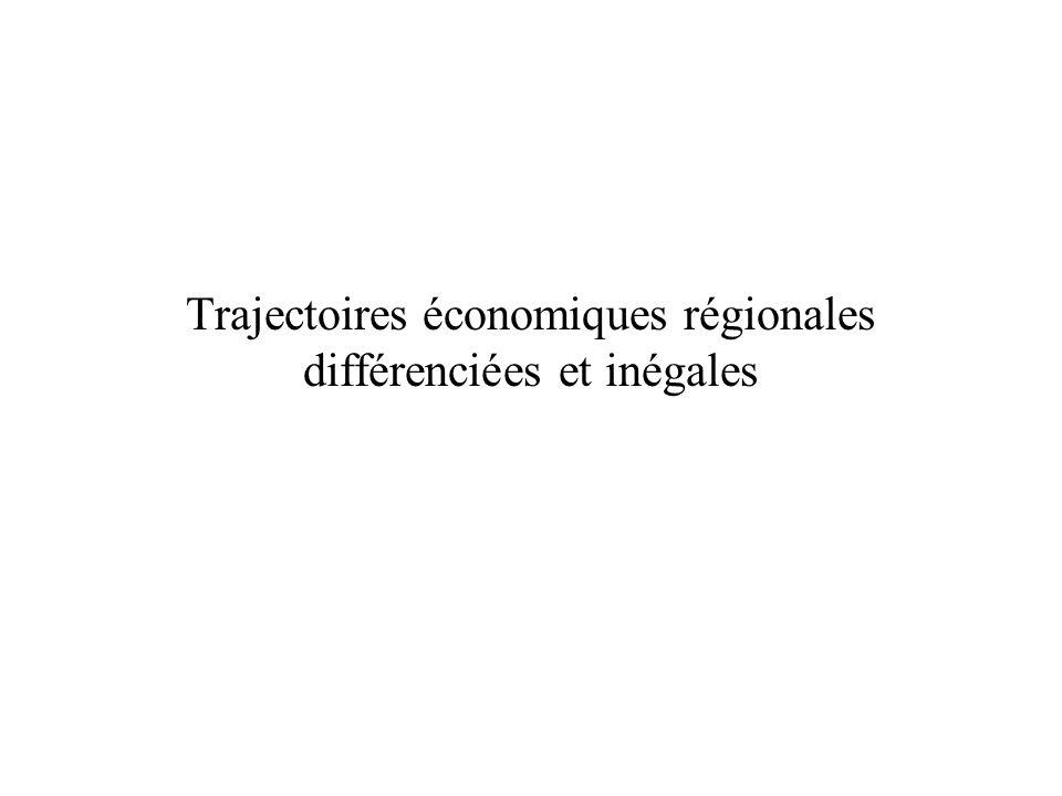 Trajectoires économiques régionales différenciées et inégales