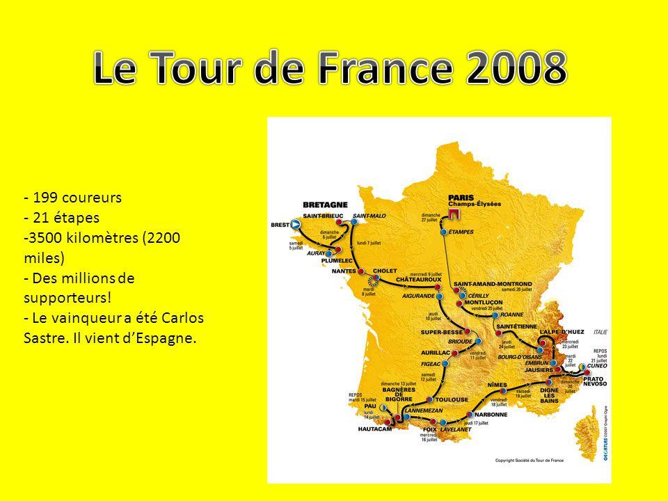 Le Tour de France 2008 - 199 coureurs - 21 étapes