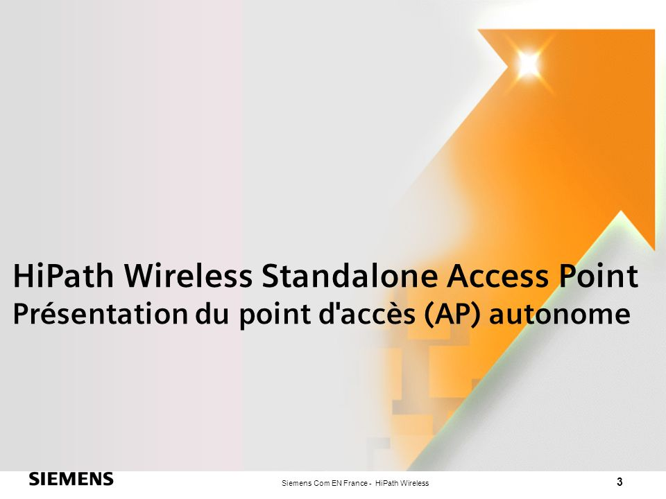 HiPath Wireless Standalone Access Point Présentation du point d accès (AP) autonome