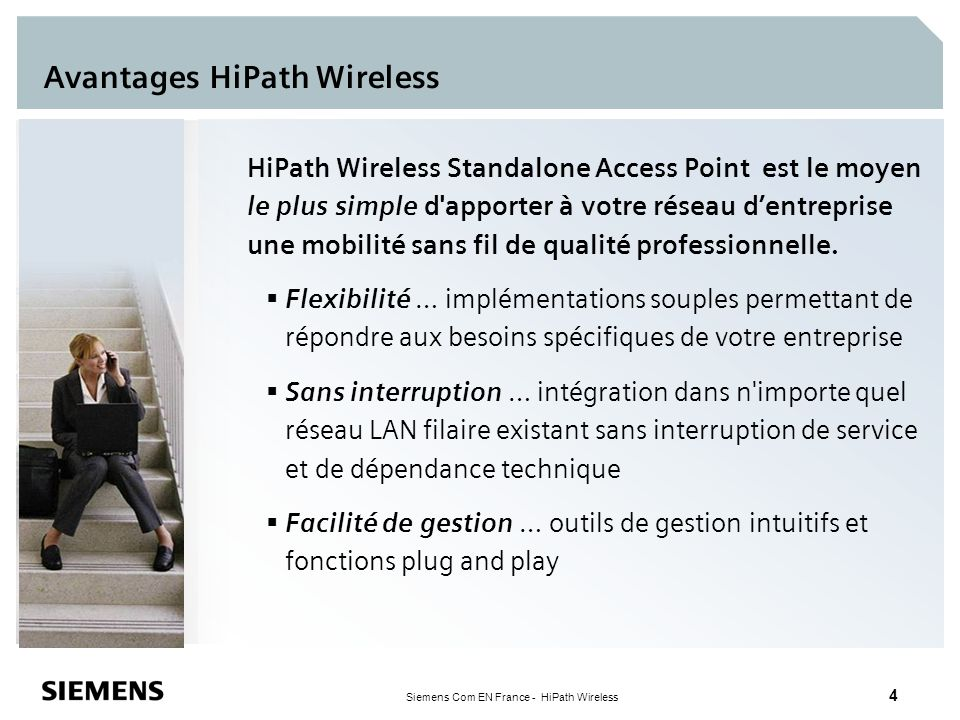 Avantages HiPath Wireless