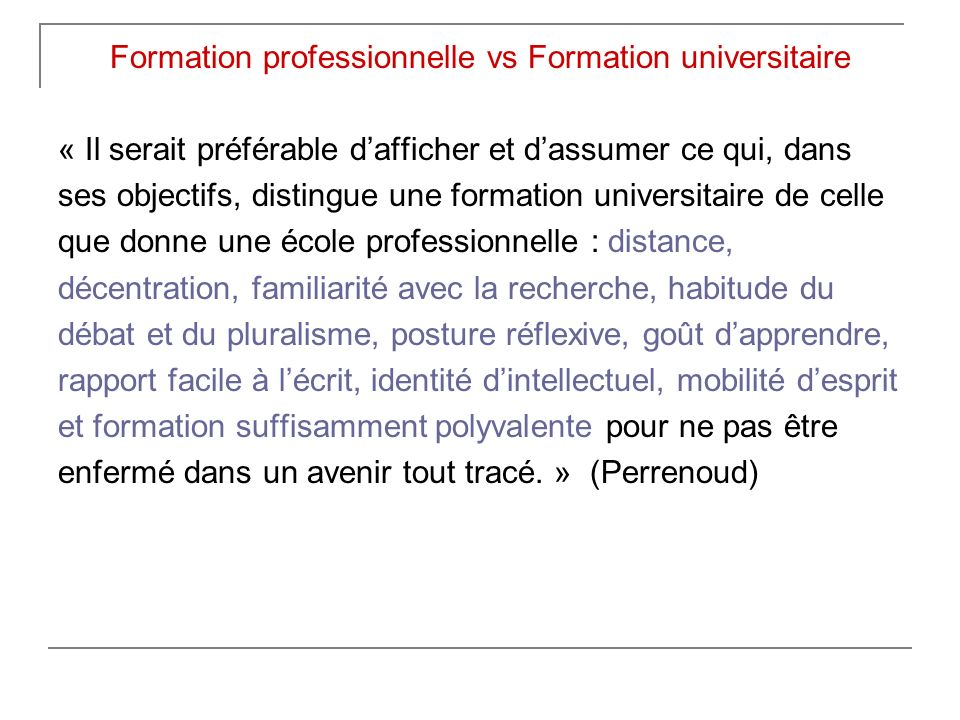 Formation professionnelle vs Formation universitaire