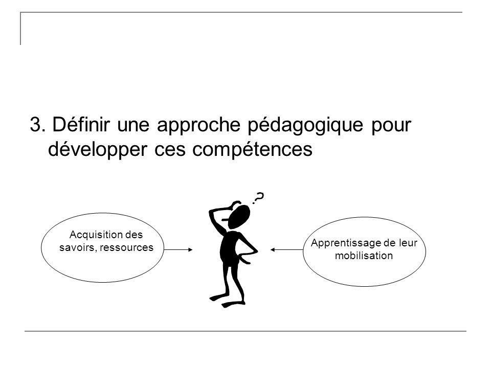 3. Définir une approche pédagogique pour développer ces compétences