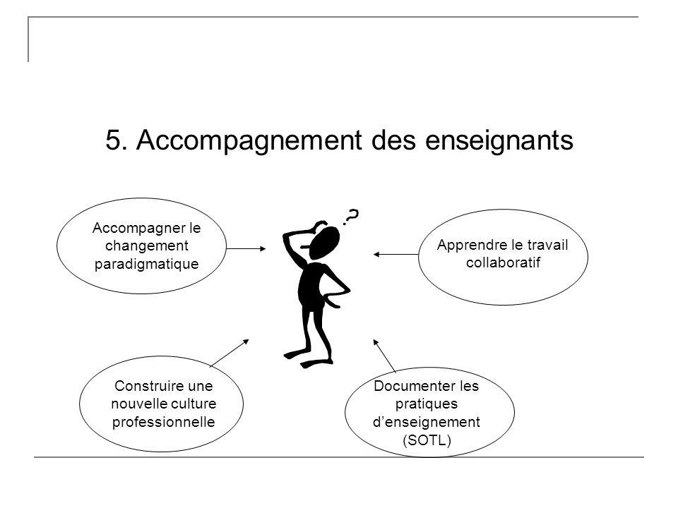 5. Accompagnement des enseignants