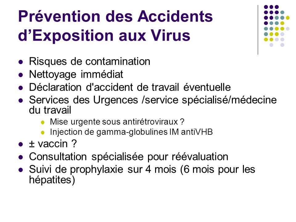 Prévention des Accidents d'Exposition aux Virus