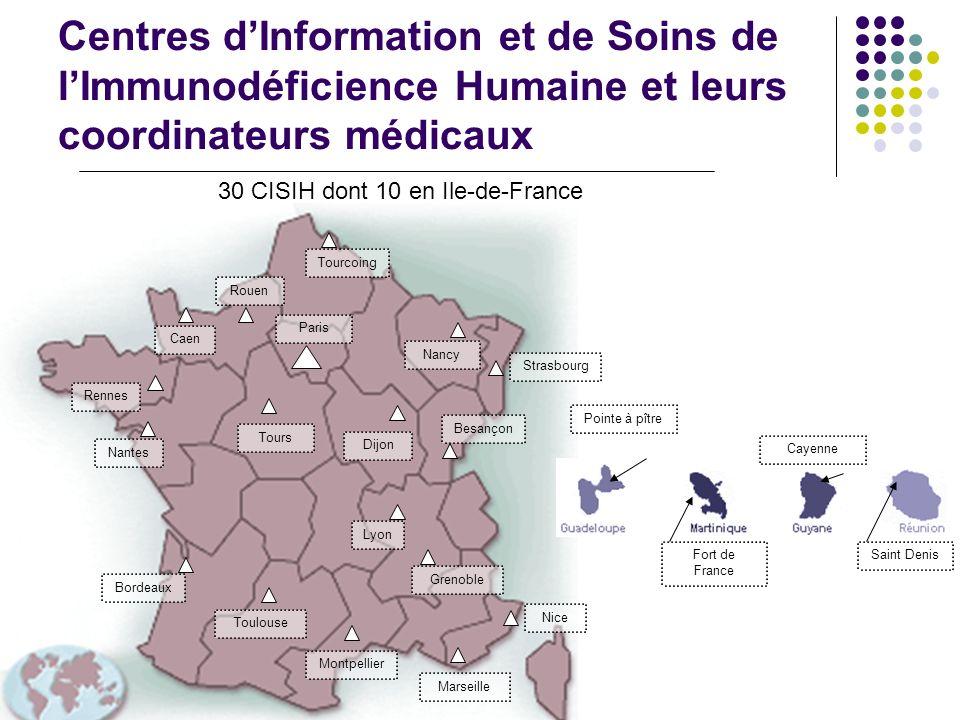 30 CISIH dont 10 en Ile-de-France