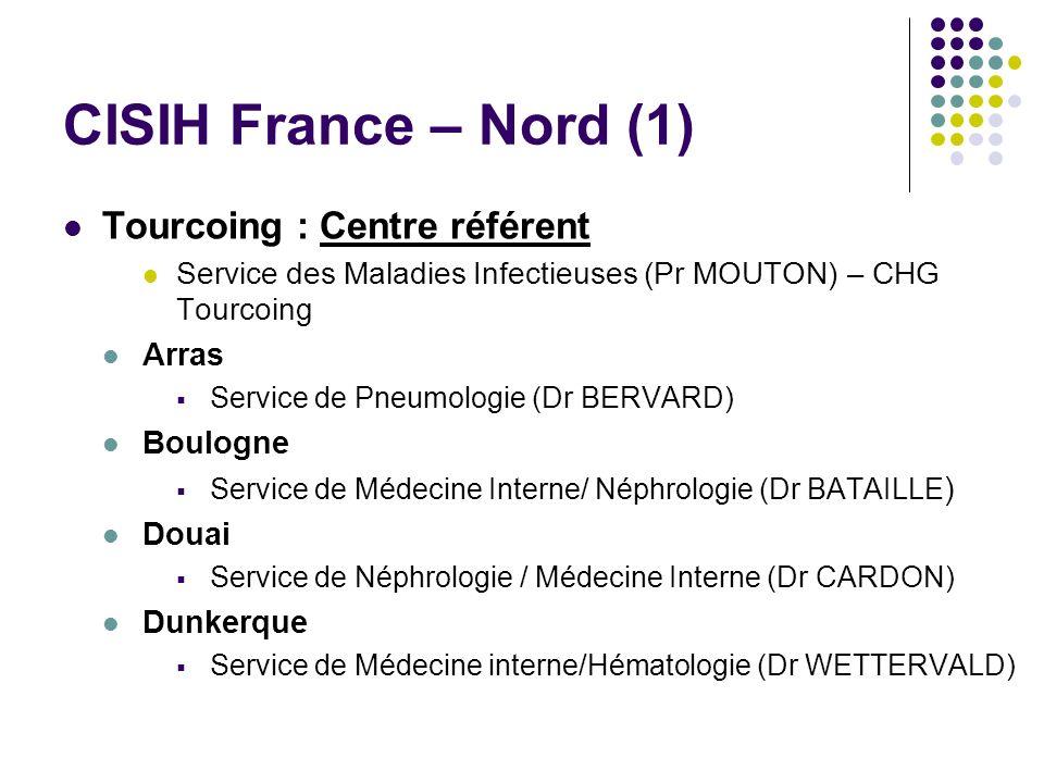 CISIH France – Nord (1) Tourcoing : Centre référent Arras Boulogne