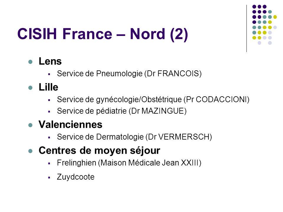 CISIH France – Nord (2) Lens Lille Valenciennes