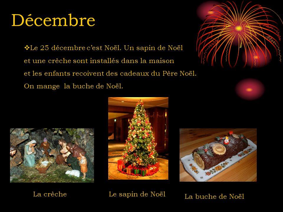 Décembre Le 25 décembre c'est Noël. Un sapin de Noël