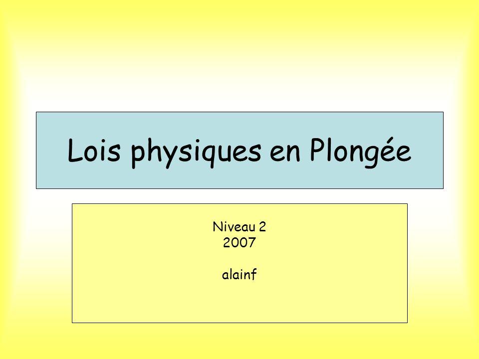 Lois physiques en Plongée
