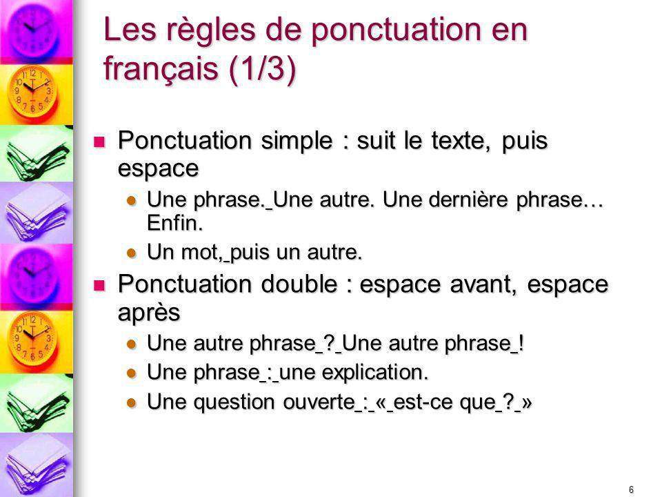 Les règles de ponctuation en français (1/3)