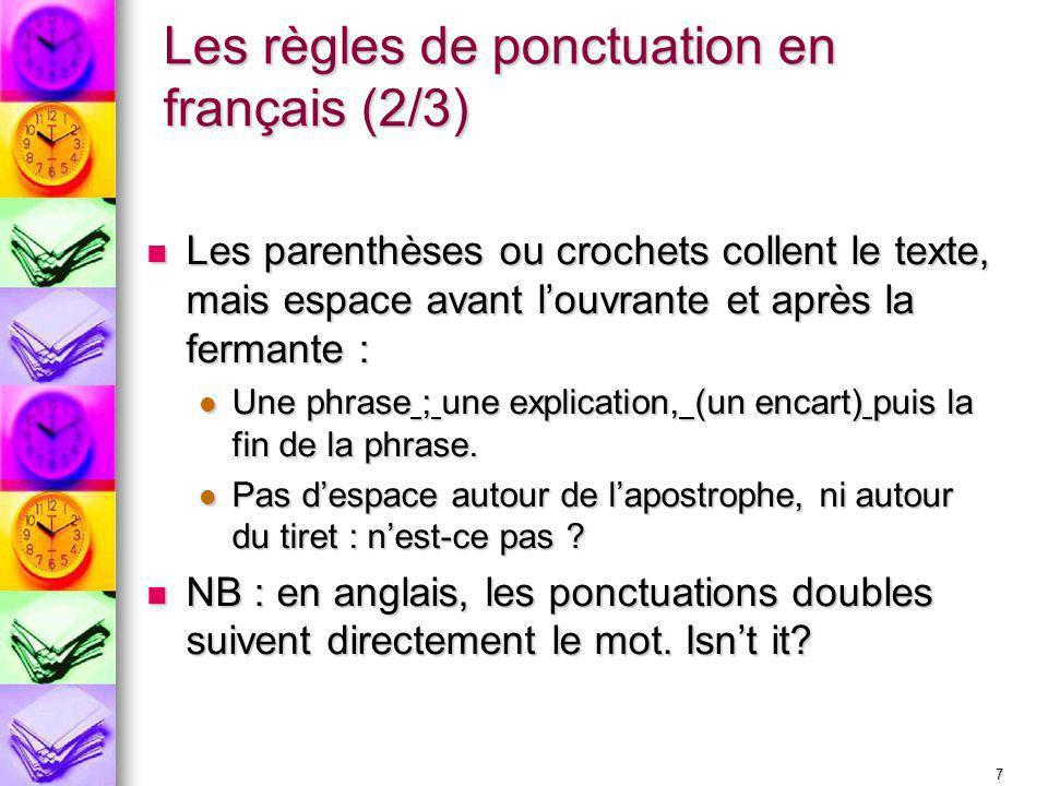 Les règles de ponctuation en français (2/3)