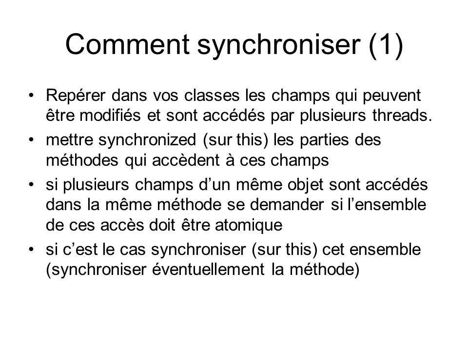 Comment synchroniser (1)