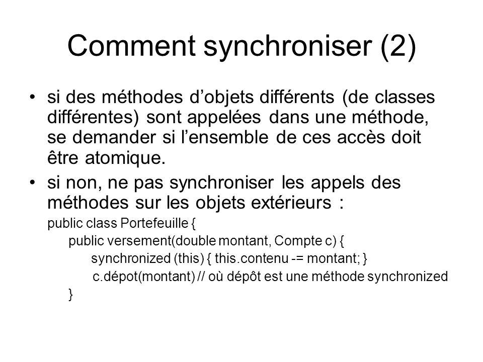 Comment synchroniser (2)
