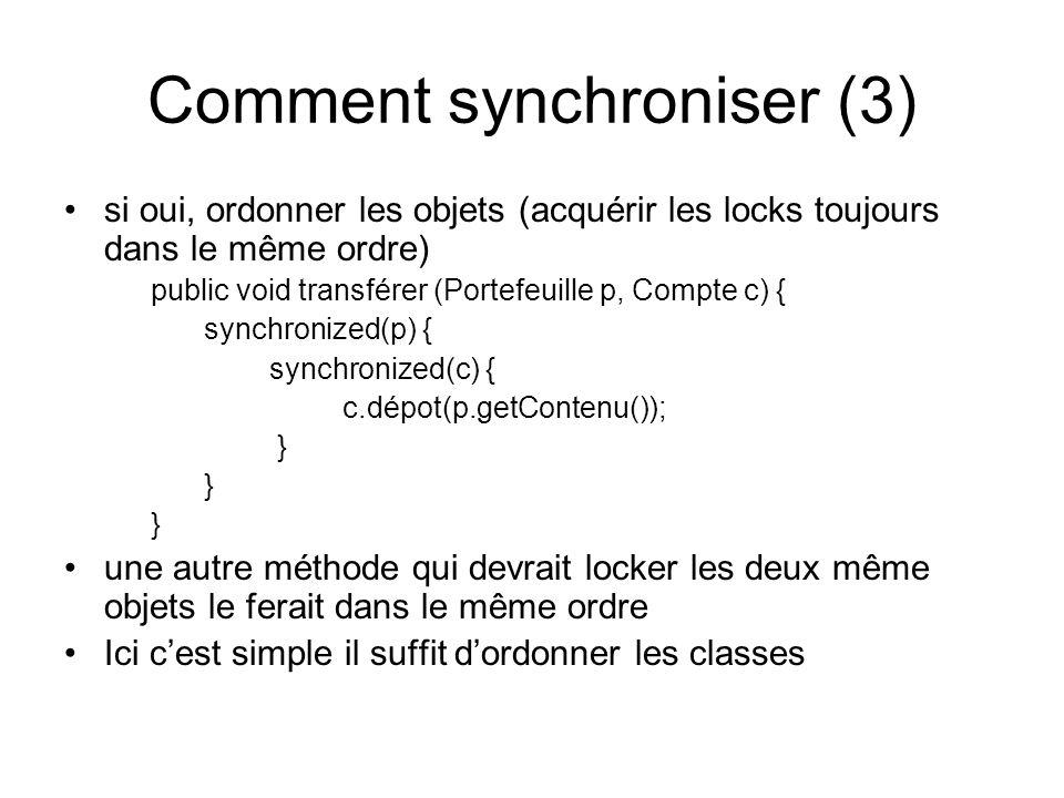 Comment synchroniser (3)