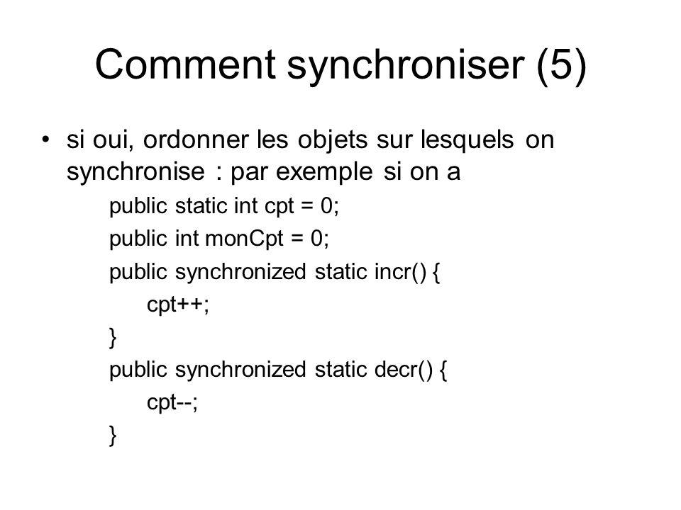 Comment synchroniser (5)
