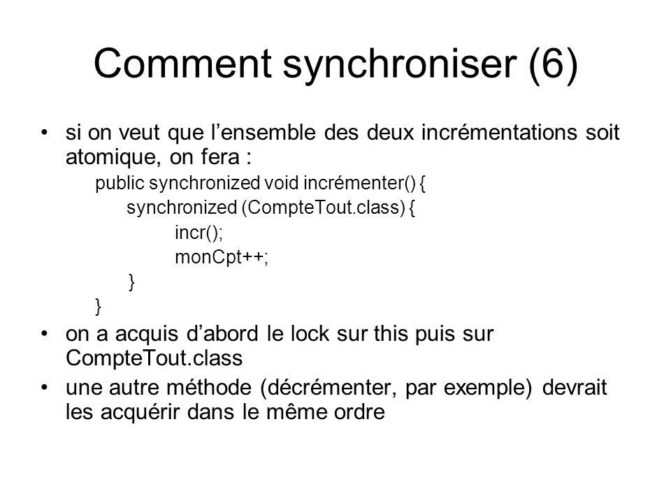 Comment synchroniser (6)