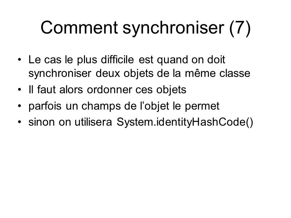 Comment synchroniser (7)