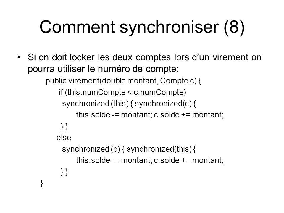Comment synchroniser (8)