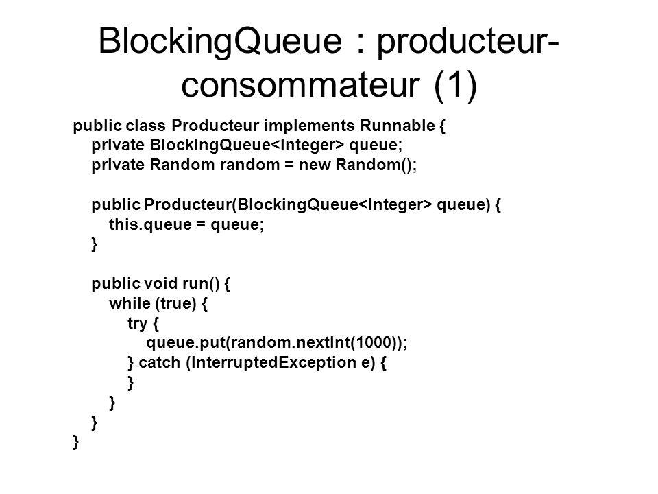 BlockingQueue : producteur-consommateur (1)
