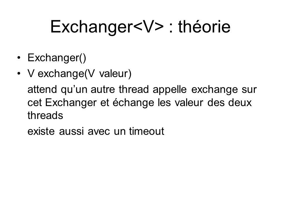 Exchanger<V> : théorie
