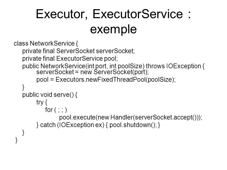 Executor, ExecutorService : exemple