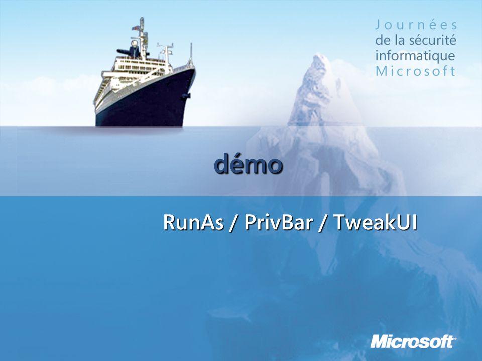 RunAs / PrivBar / TweakUI