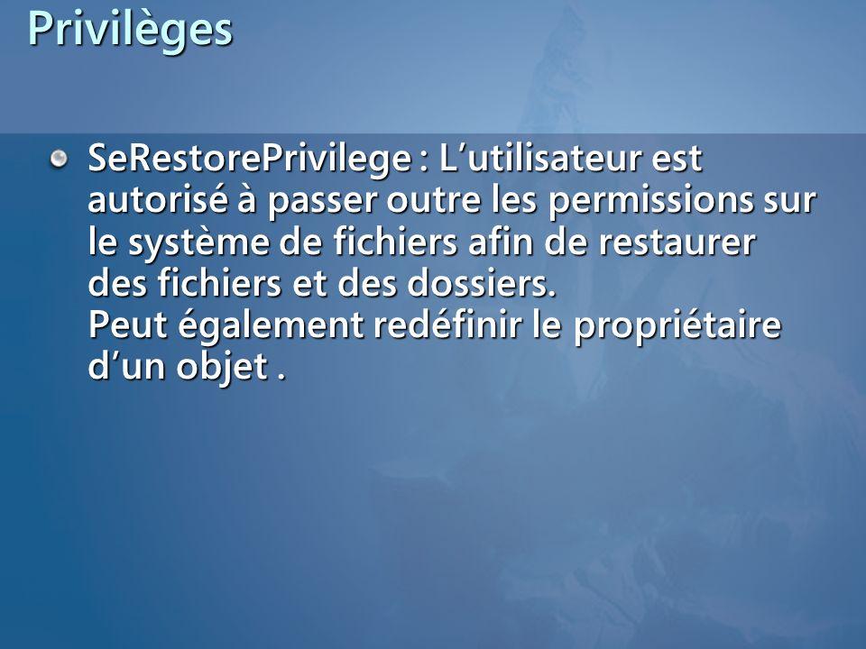 Privilèges