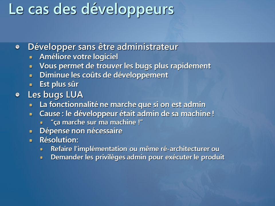 Le cas des développeurs
