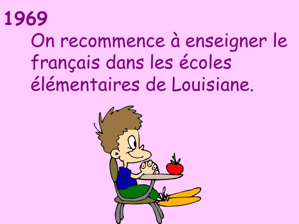 On recommence à enseigner le français dans les écoles élémentaires de Louisiane.