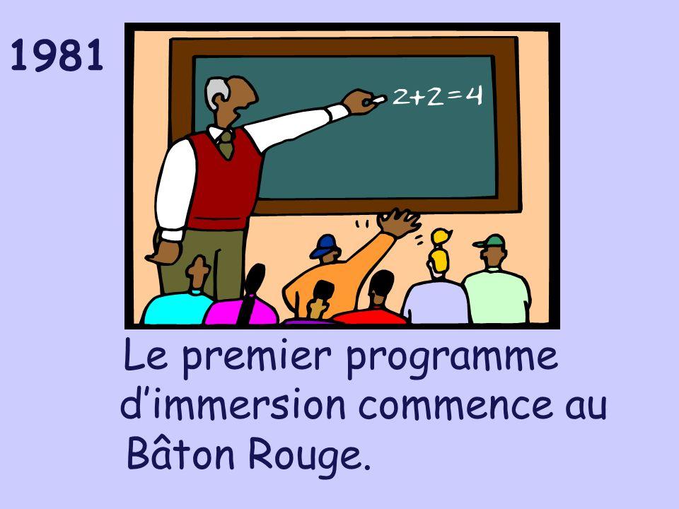 Le premier programme d'immersion commence au Bâton Rouge.
