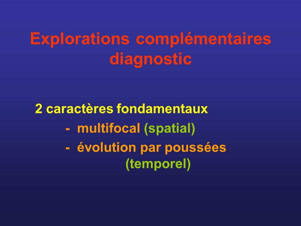 Explorations complémentaires diagnostic