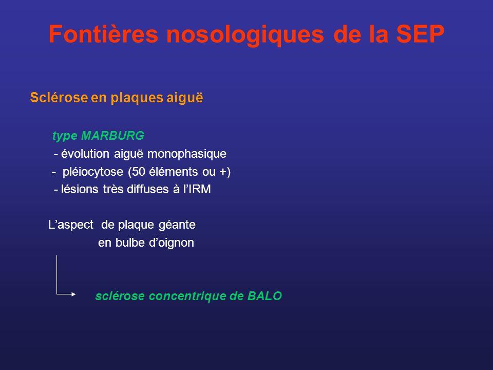 Fontières nosologiques de la SEP