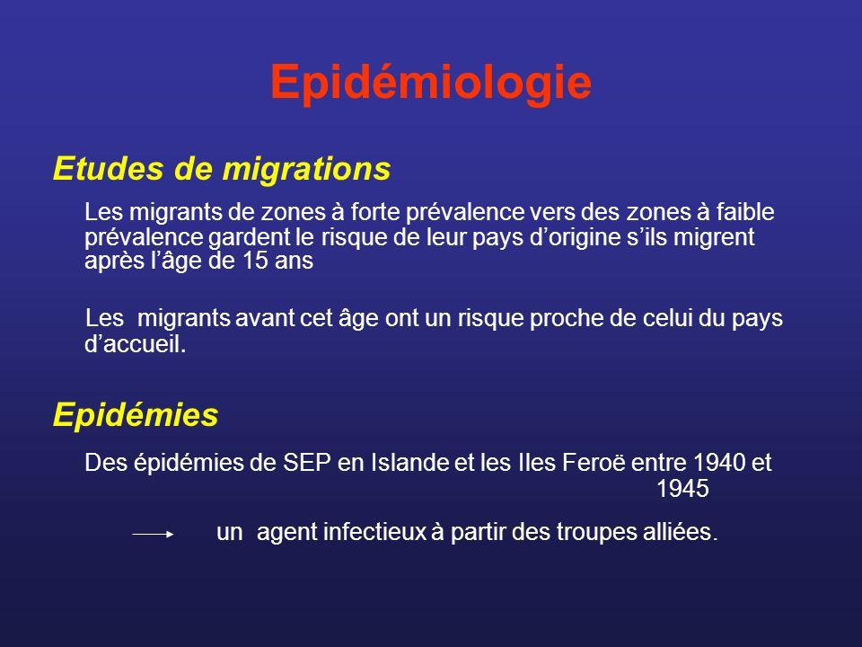 Epidémiologie Etudes de migrations.