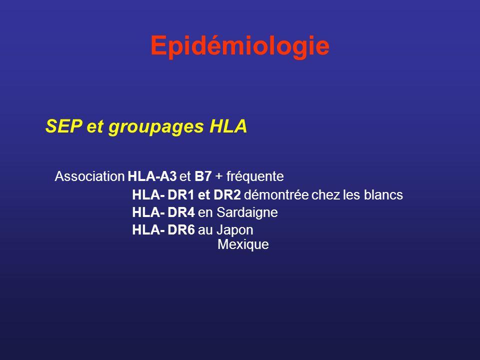Epidémiologie SEP et groupages HLA