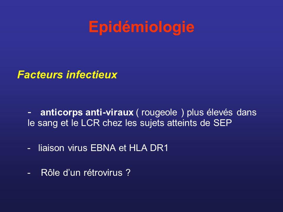 Epidémiologie Facteurs infectieux